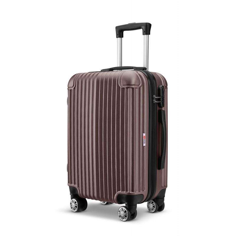 Βαλίτσα τρόλλεϋ abs με κλειδαριά ασφαλείας σε γκρι χρώμα 51x30x20