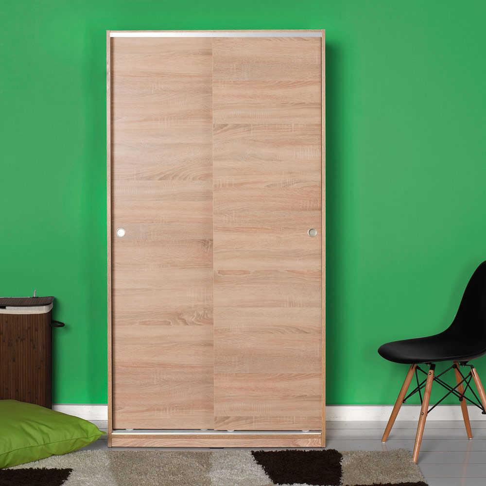 Ντουλάπα δίφυλλη με συρόμενες πόρτες σε χρώμα σονόμα 94x52x182