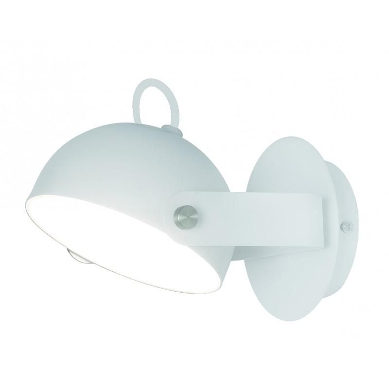 """Απλίκα """"HEMI"""" μεταλλική με led σε λευκό χρώμα 13x21x12"""