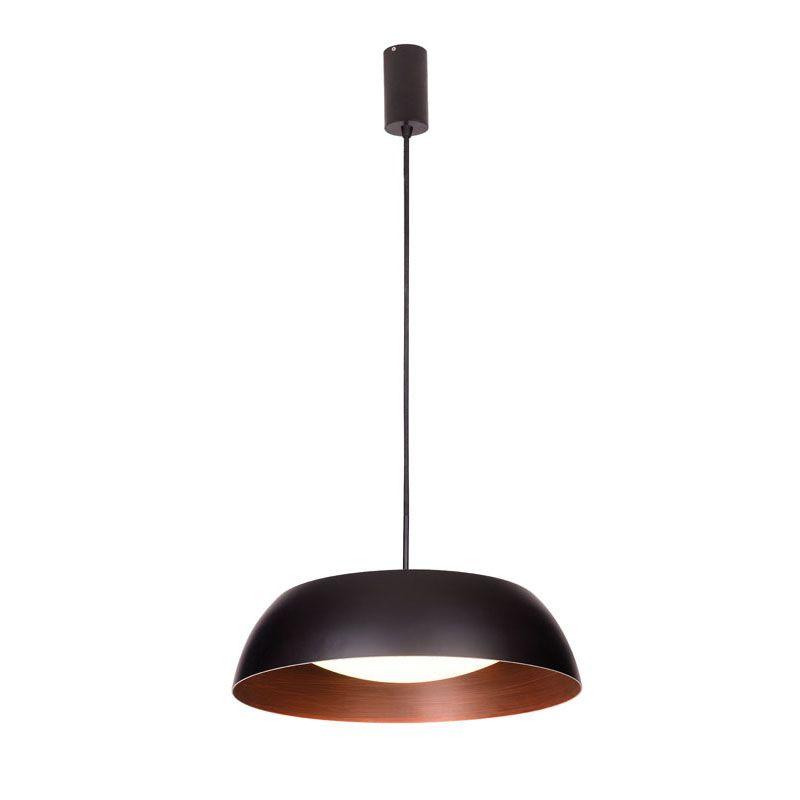 "Mονόφωτο φωτιστικό ""CHESTER"" μεταλλικό με led σε μαύρο με καφέ χρώμα 40x110"