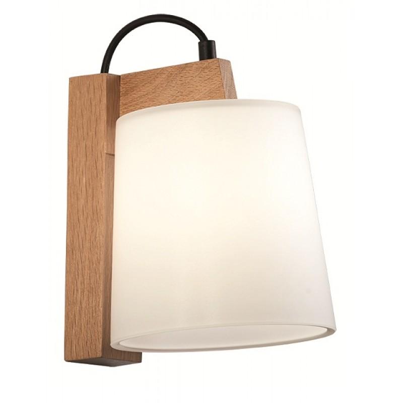 """Απλίκα """"MONDO"""" ξύλινη σε χρώμα φυσικό 20x23x21"""