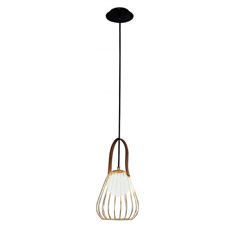"""Mονόφωτο φωτιστικό """"LEVIK"""" μεταλλικό σε χρυσό χρώμα 18x140"""