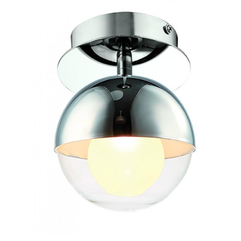 """Φωτιστικό οροφής """"COUPER"""" γυάλινο διαφανές 12,5x17"""