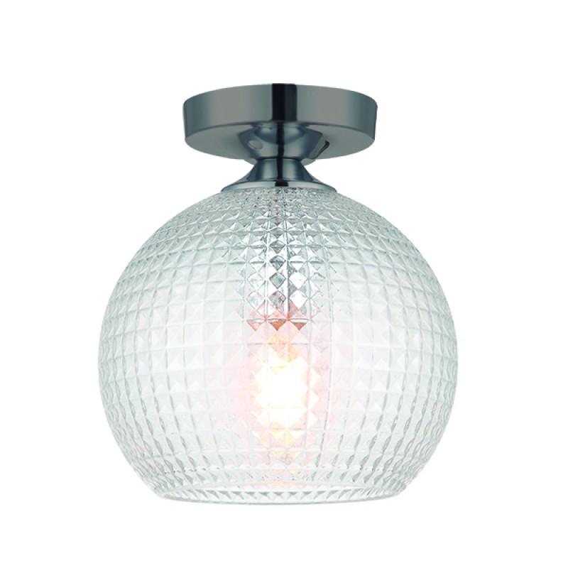 """Φωτιστικό οροφής """"TALISA"""" γυάλινο διάφανο 20x23"""