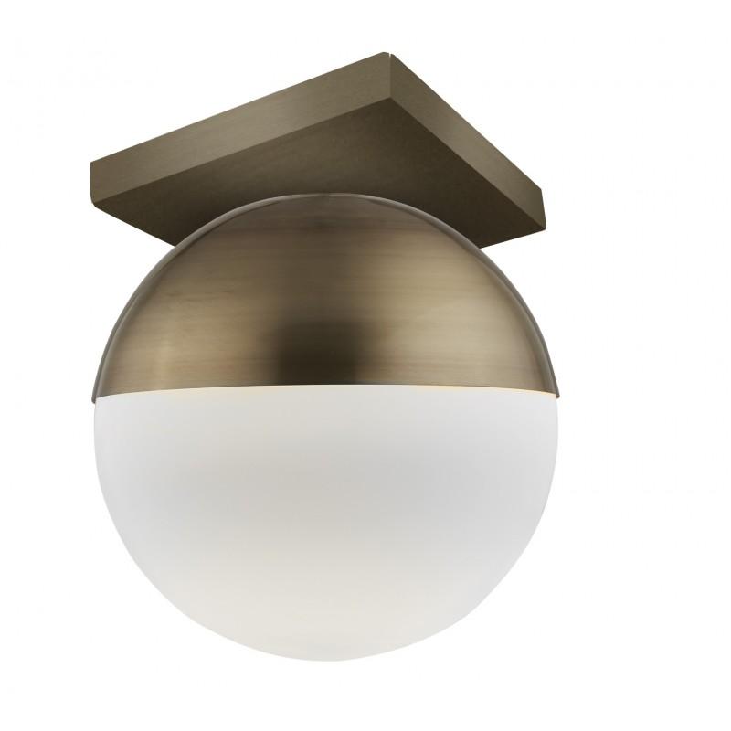 """Φωτιστικό οροφής """"VIOLA"""" γυάλινο-μεταλλικό σε λευκό-οξυντέ χρώμα 20x230"""