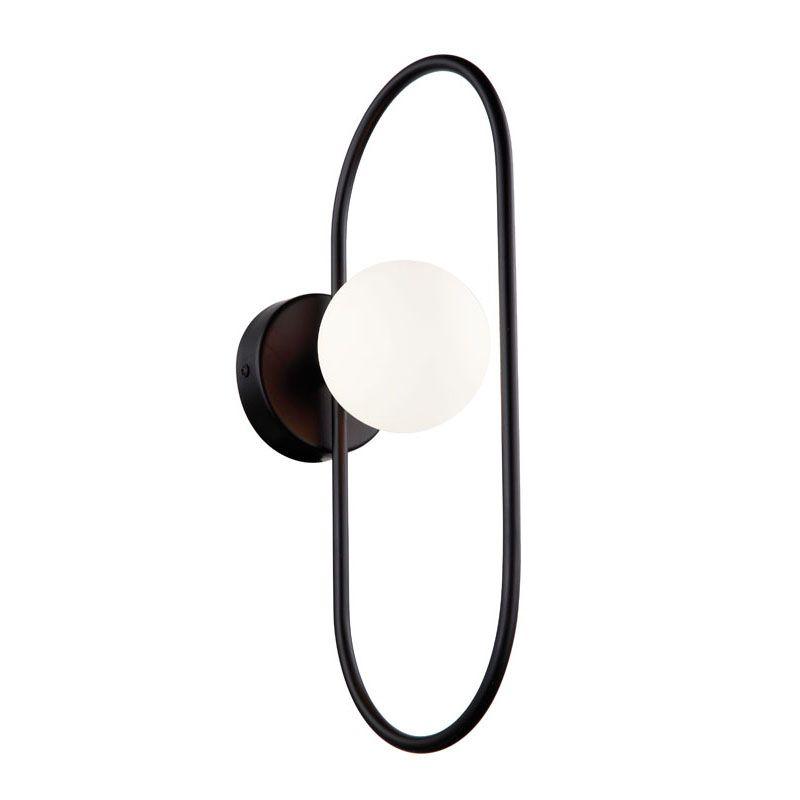 """Φωτιστικό απλίκα """"FANCY"""" μεταλλικό σε μαύρο χρώμα 10x20x39"""