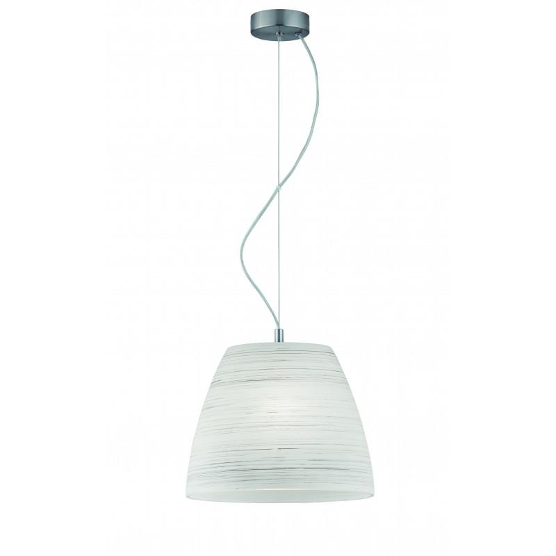 "Mονόφωτο φωτιστικό ""DORIAN"" γυάλινο σε λευκό χρώμα 31x120"