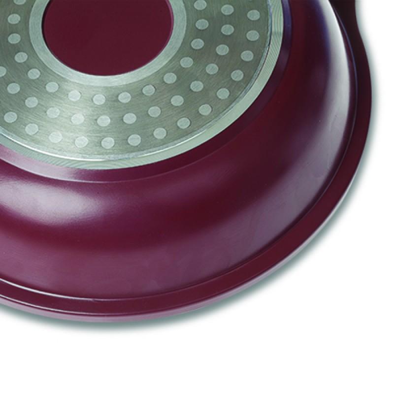 """Αντικολλητικό τηγάνι """"NAVA"""" από χυτό αλουμίνιο με αποσπώμενο χερούλι 24cm"""