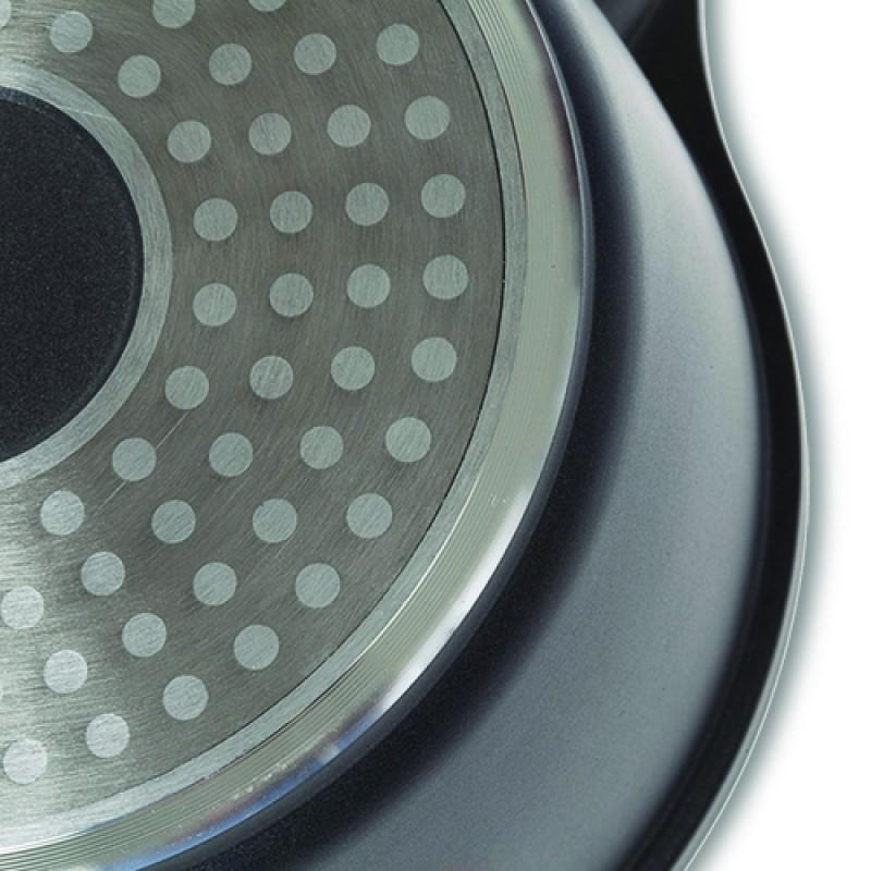 """Αντικολλητική γαλατιέρα """"NAVA"""" από χυτό αλουμίνιο με αποσπώμενα χερούλια 16cm"""