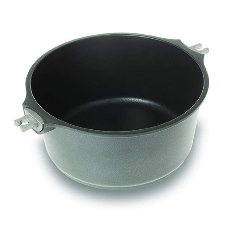 """Αντικολλητική κατσαρόλα """"NAVA"""" από χυτό αλουμίνιο με αποσπώμενα χερούλια 24cm"""