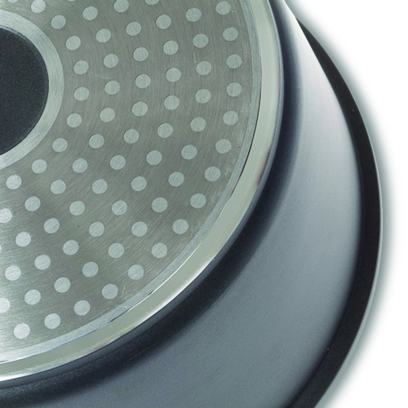 """Αντικολλητική ημίχυτρα & βαθύ τηγάνι-χυτό """"NAVA"""" αλουμίνιο με αποσπώμενα χερούλια 28cm"""