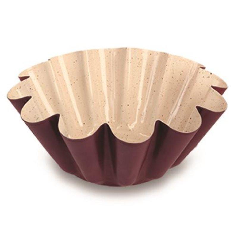 """Κεραμική αντικολλητική """"NAVA"""" ατσάλινη φόρμα για κέικ """"flower"""" 0.4mm Υ8x22.5cm"""