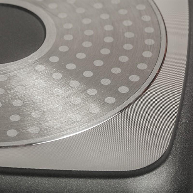 """Τετράγωνη κατσαρόλα-γάστρα """"NAVA"""" με αντικολλητική επίστρωση stone 20cm"""