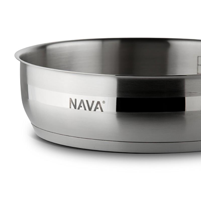 """Ανοξείδωτο τηγάνι με καπάκι """"NAVA"""" 26cm"""