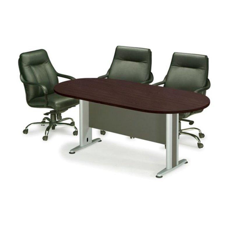 Τραπέζι συνεδρίου οβάλ σε χρώμα βέγγε 180x90x75