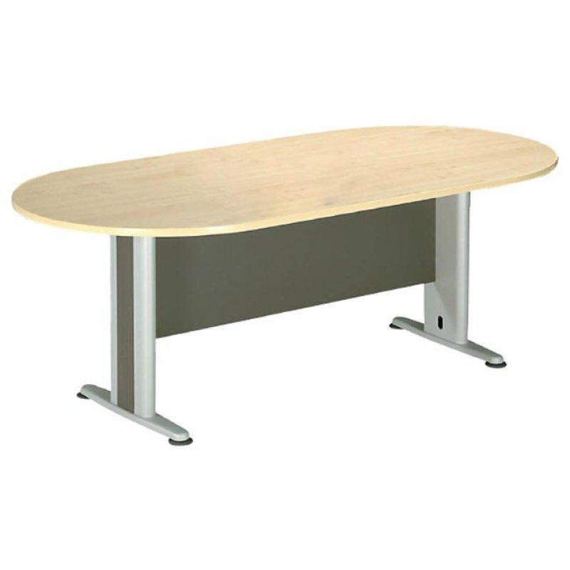 Τραπέζι συνεδρίου οβάλ σε χρώμα φυσικό/οξυά 240x120x75