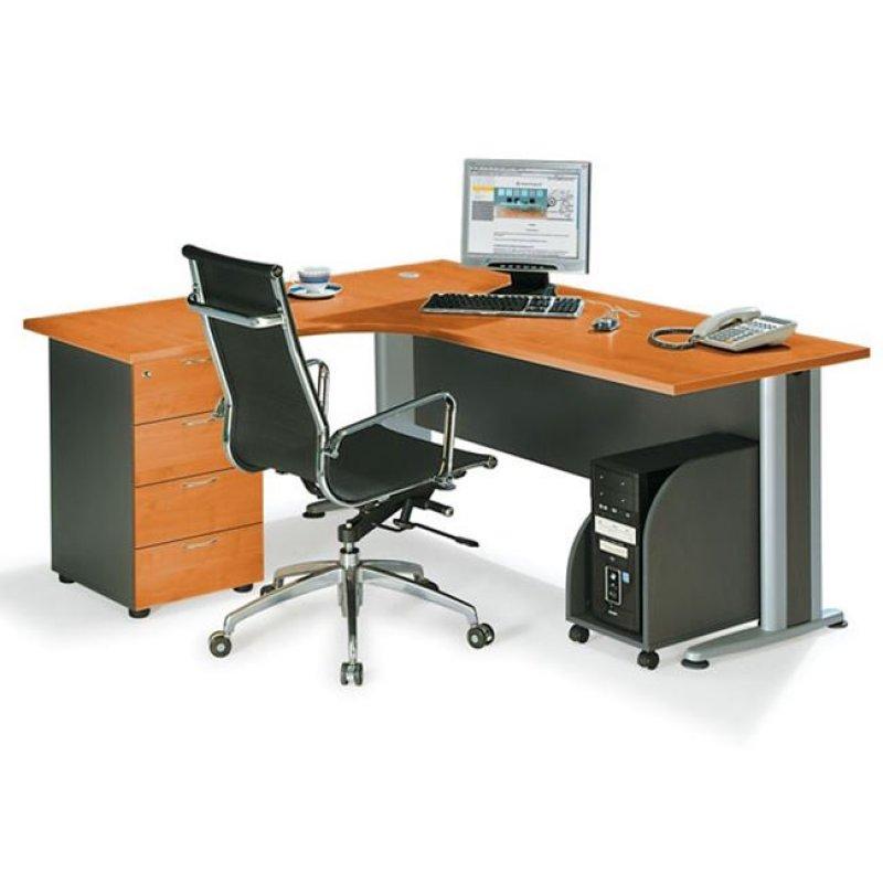 """Γραφείο """"SUPERIOR COMPACT"""" αριστερή γωνία σε χρώμα κερασί 180x70x75"""