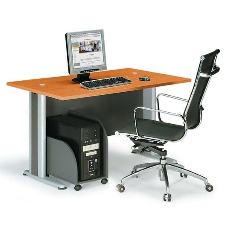"""Γραφείο """"BASIC"""" σε χρώμα κερασί 120x80x75"""