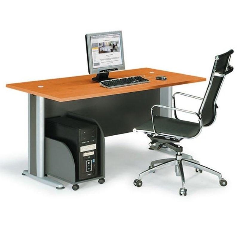 """Γραφείο """"BASIC"""" σε χρώμα κερασί 150x80x75"""