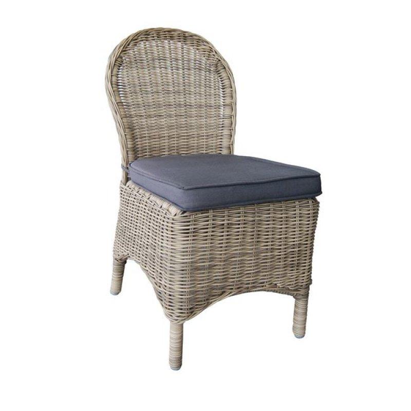 """Καρέκλα """"MONTANA"""" αλουμινίου με πλέξη wicker σε χρώμα καφέ 48x65x91"""