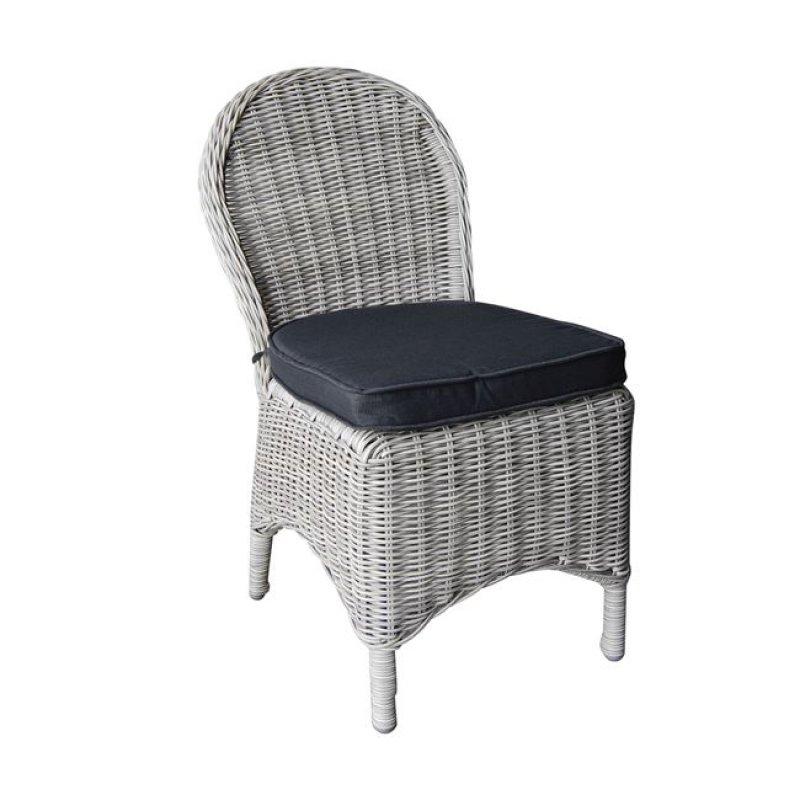 """Καρέκλα """"MONTANA"""" αλουμινίου με πλέξη wicker σε χρώμα γκρι 48x65x91"""