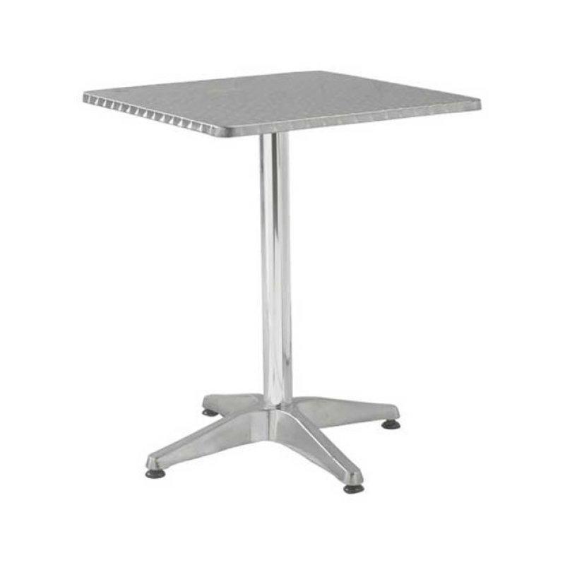 """Τραπέζι """"PALMA"""" τερράγωνο αλουμινίου 60x60x70"""