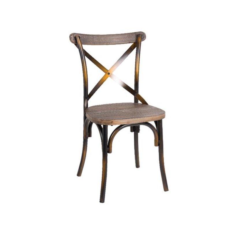 """Καρέκλα """"DESTINY"""" μεταλλική σε χρώμα μαύρο χρυσό 50x52x89"""