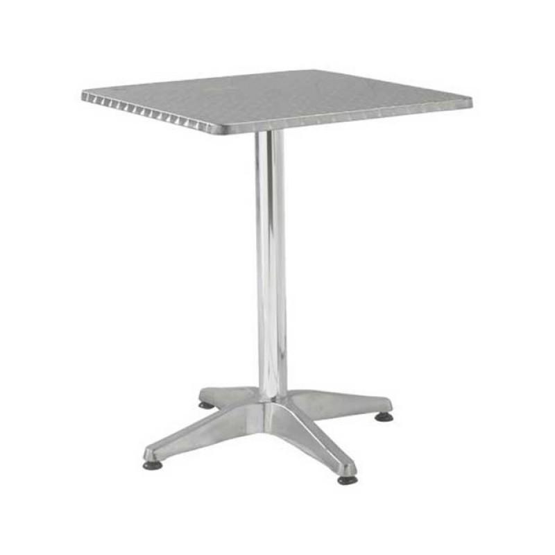 """Τραπέζι """"PALMA"""" τετράγωνο αλουμινίου 70x70x70"""