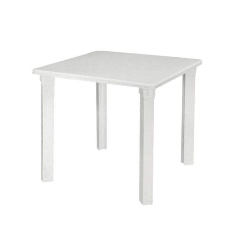 """Τραπέζι """"NETTUNO"""" πλαστικό σε λευκό χρώμα 80x80x72"""