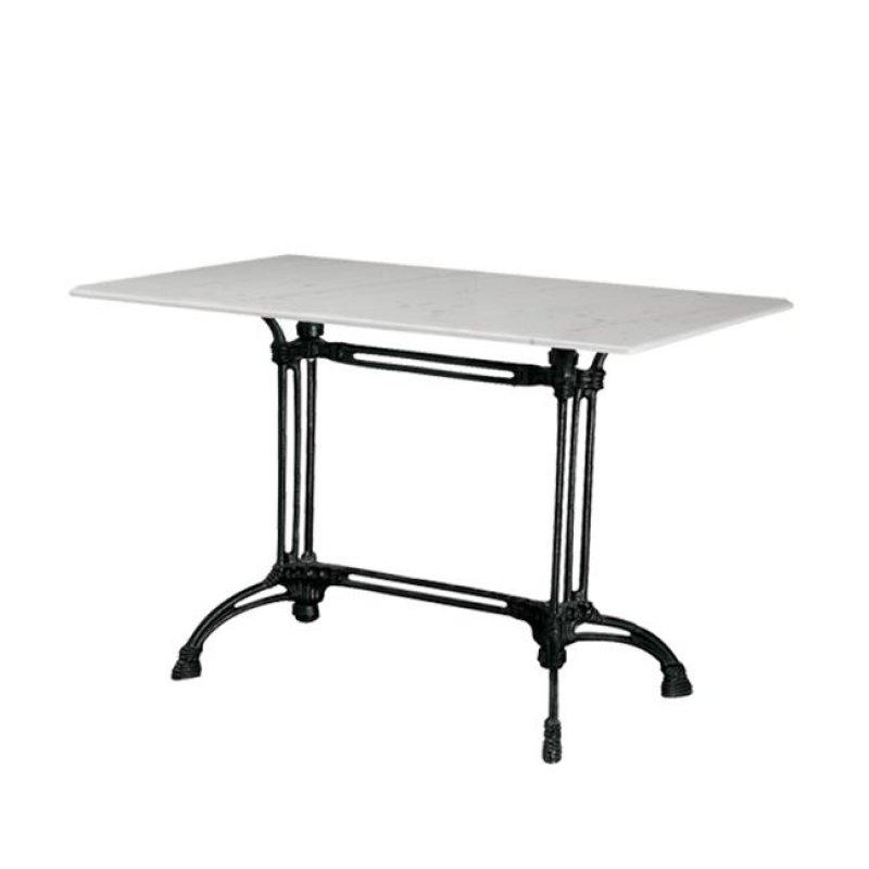 """Τραπέζι """"EKO"""" αίθριο με μαύρο σκελετό και μαρμάρινη επιφάνεια 70x110x74"""