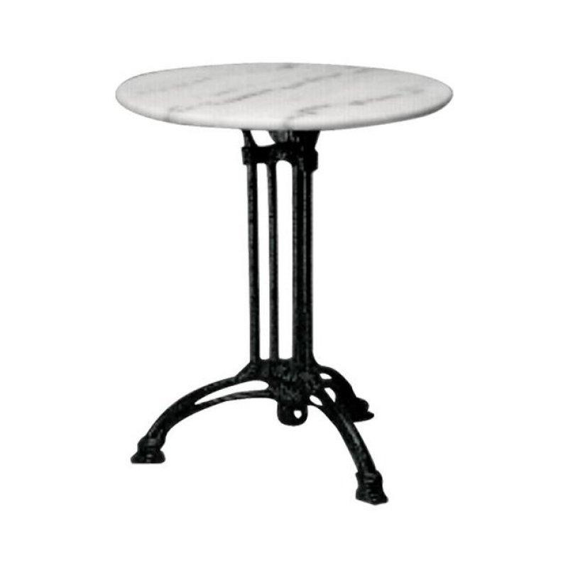 """Τραπέζι """"EKO"""" τρίνυχο με μαύρο σκελετό με μαρμάρινη επιφάνεια 70x74"""