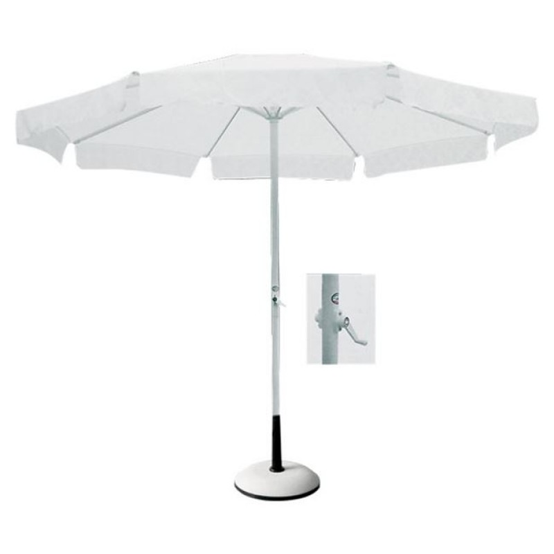 Ομπρέλα αλουμινίου-υφασμάτινη σε λευκό χρώμα Φ3