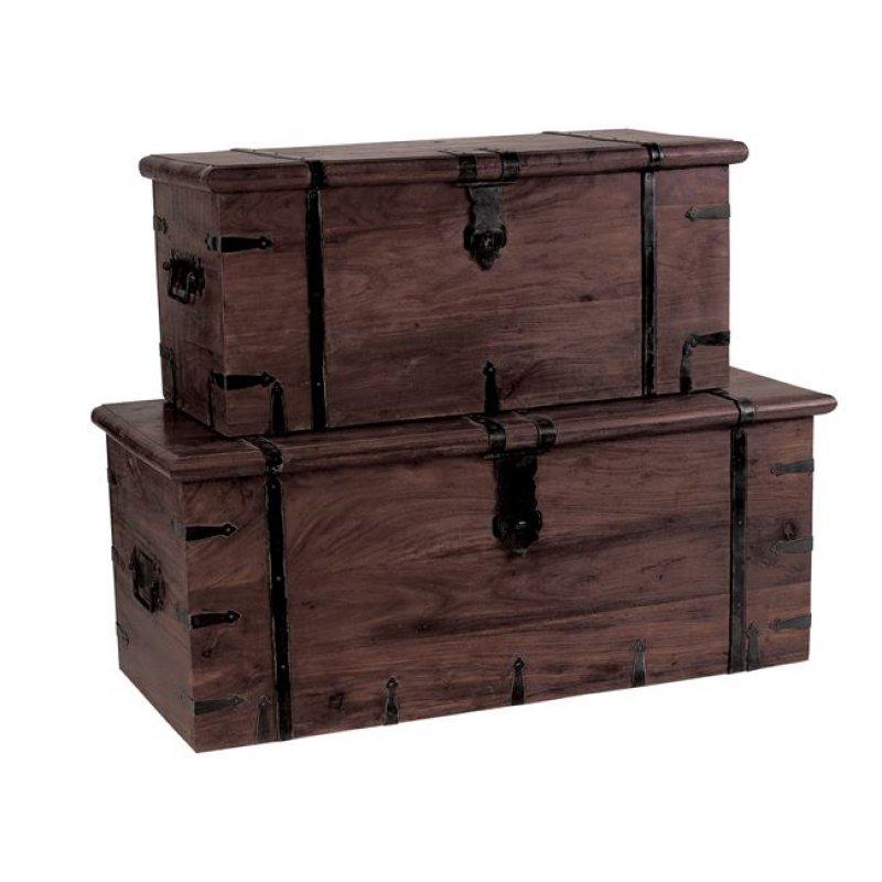 """Μπαούλο """"BOX Νο 1"""" σε χρώμα καρυδί 102x46x40"""