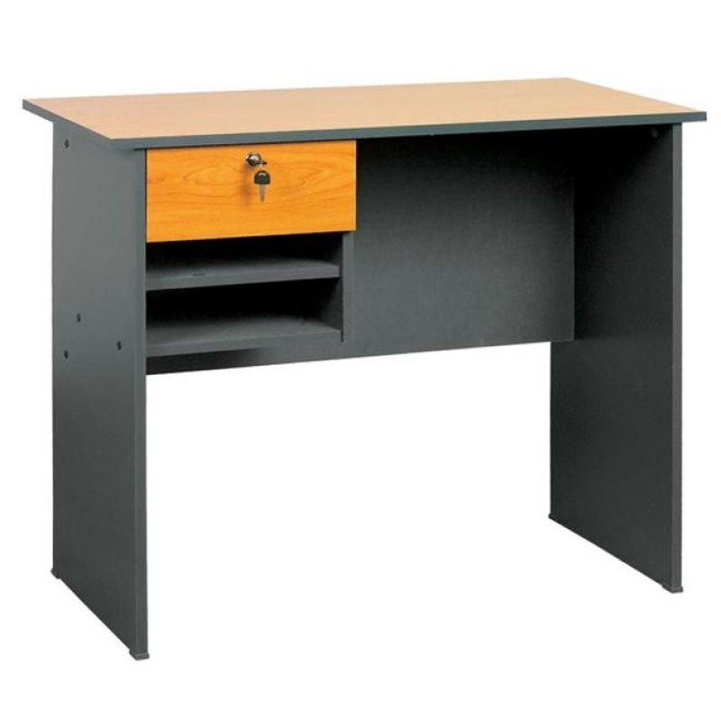 Γραφείο με 1 συρτάρι σε χρώμα σκούρο γκρι-κερασί 90x45x73