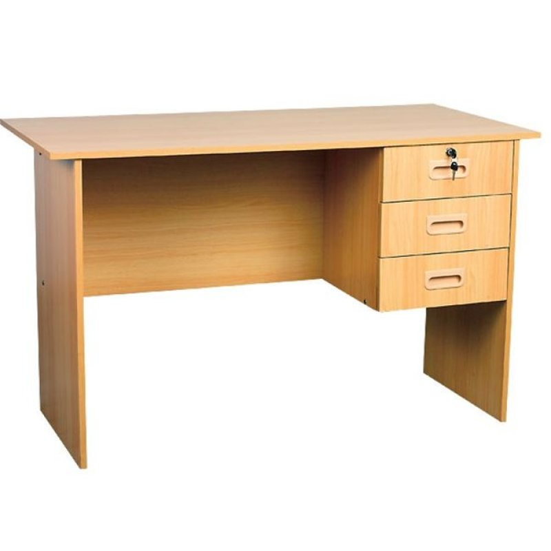 Γραφείο με 3 συρτάρια σε χρώμα κερασί 120x60x73