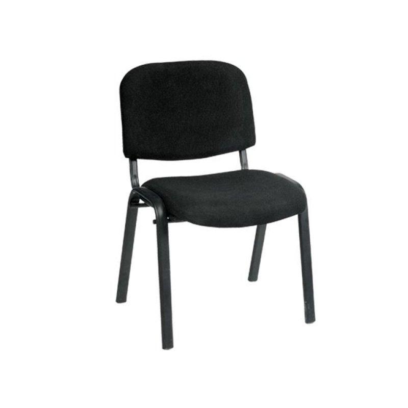 """Καρέκλα επισκέπτη """"SIGMA"""" από ύφασμα σε μαύρο χρώμα 55x50x79"""