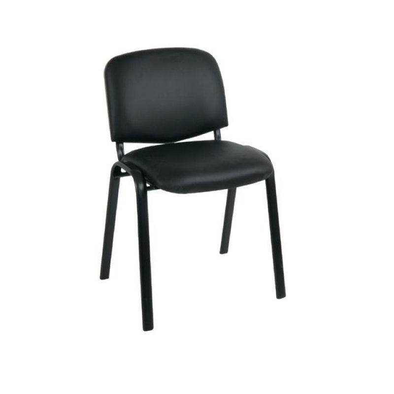 """Καρέκλα επισκέπτη """"SIGMA"""" από τεχνόδερμα σε μαύρο χρώμα 55x50x79"""