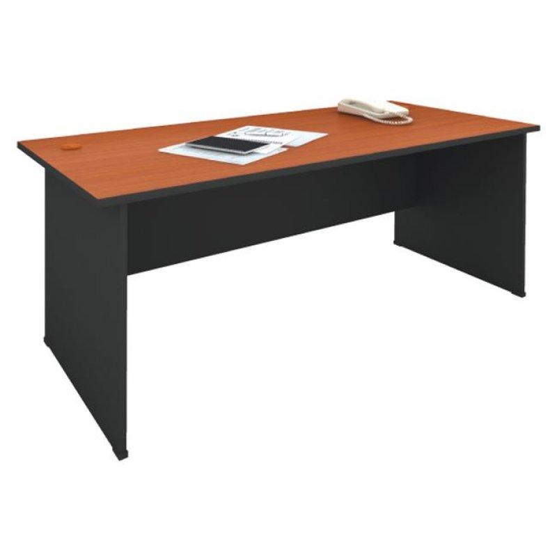 Γραφείο σε χρώμα σκούρο γκρι-κερασί χρώμα 180x70x74