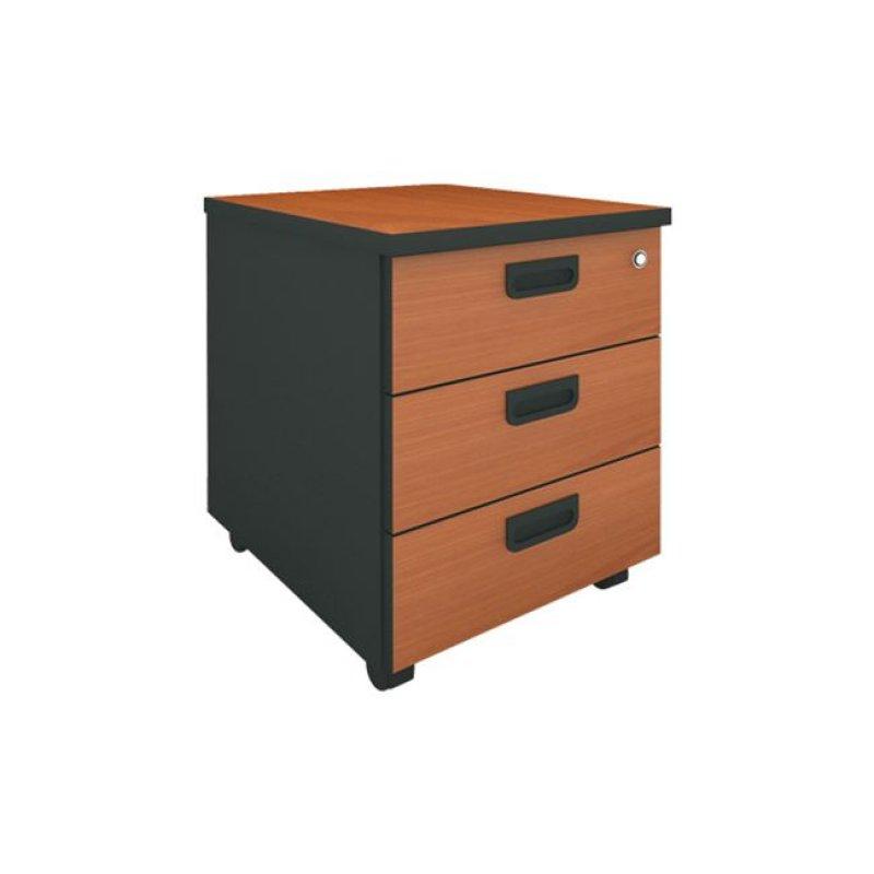 Συρταριέρα τροχηλάτη σε κερασί χρώμα 40x48x56