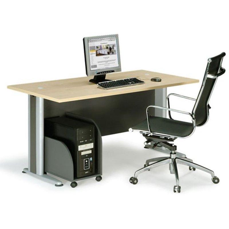 """Γραφείο """"BASIC"""" σε χρώμα φυσικό/οξυά 120x80x75"""