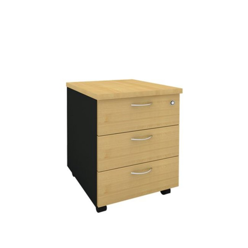 Συρταριέρα τροχηλάτη σε φυσικό/οξυά χρώμα 40,5x48x56
