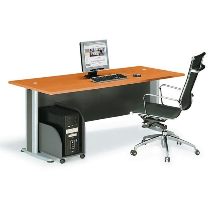 """Γραφείο """"BASIC"""" σε χρώμα κερασί 180x80x75"""