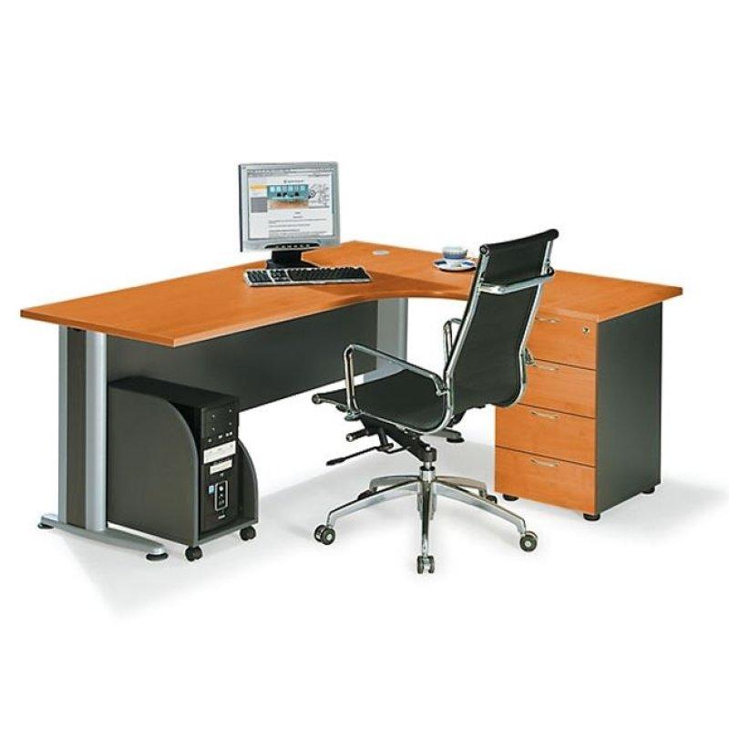 """Γραφείο """"SUPERIOR COMPACT"""" δεξιά γωνία σε χρώμα κερασί 180x70x75"""
