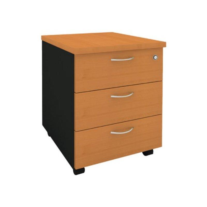 Συρταριέρα τροχηλάτη σε κερασί χρώμα  40,5x48x56