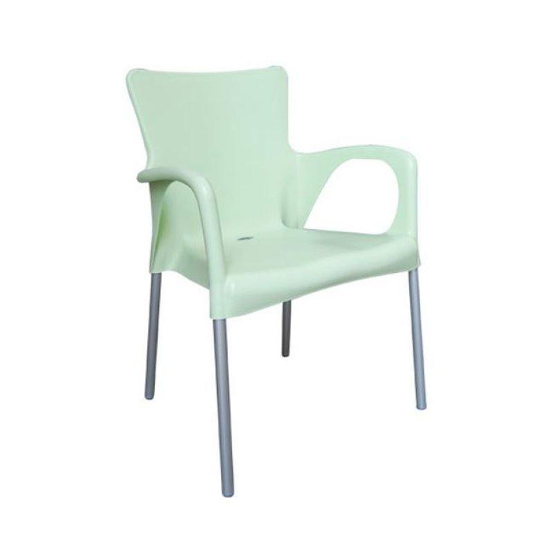"""Πολυθρόνα """"LARA"""" από πολυπροπυλένιο σε φυστικί χρώμα 55x52x85"""