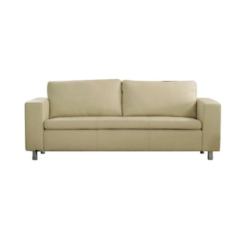 """Καναπές """"ALAMO"""" τριθέσιος από pu σε εκρού χρώμα 199x85x82"""