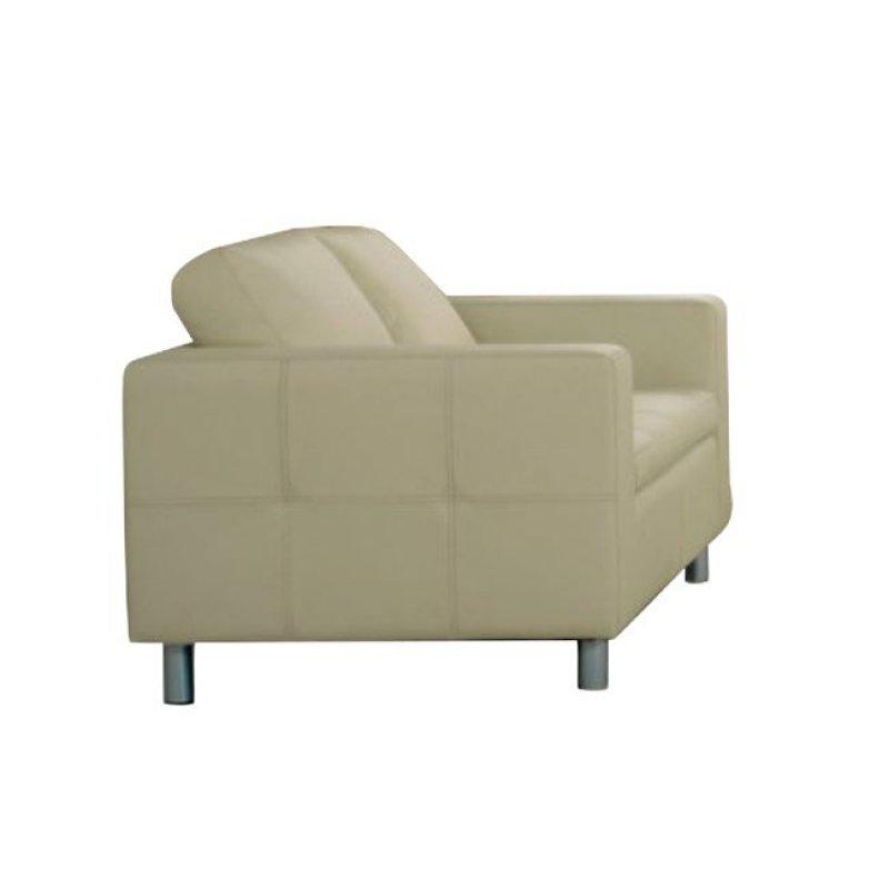 """Καναπές """"ALAMO"""" διθέσιος από pu σε εκρού χρώμα 145x85x82"""