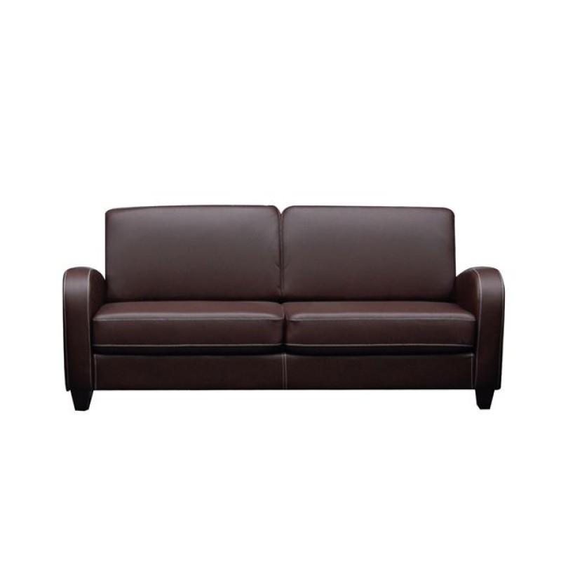 """Καναπές """"AVERO"""" τριθέσιος από pu σε σκούρο καφέ χρώμα 186x80x83"""