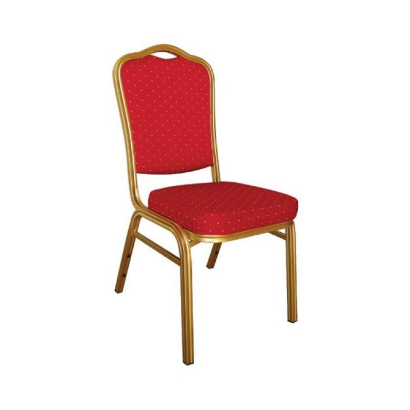 """Καρέκλα """"HILTON"""" μεταλλική-υφασμάτινη σε κόκκινο χρώμα 45x62x94"""
