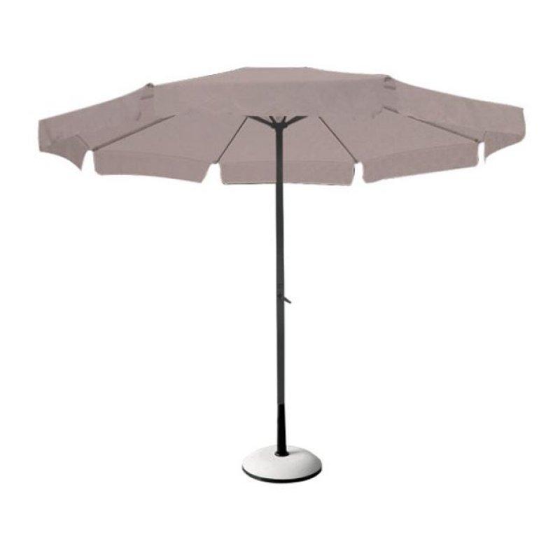 Ομπρέλα αλουμινίου-υφασμάτινη σε ανθρακί-μπεζ χρώμα Φ2